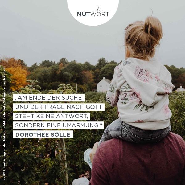 Am Ende der Suche nach Gott steht keine Antwort, sondern eine Umarmung.