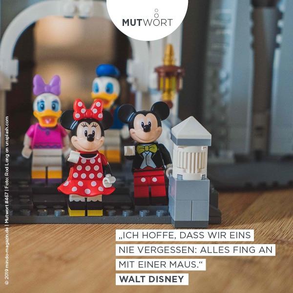 «Ich hoffe, dass wir eines nie vergessen: Mit einer Maus fing alles an.» – Walt Disney